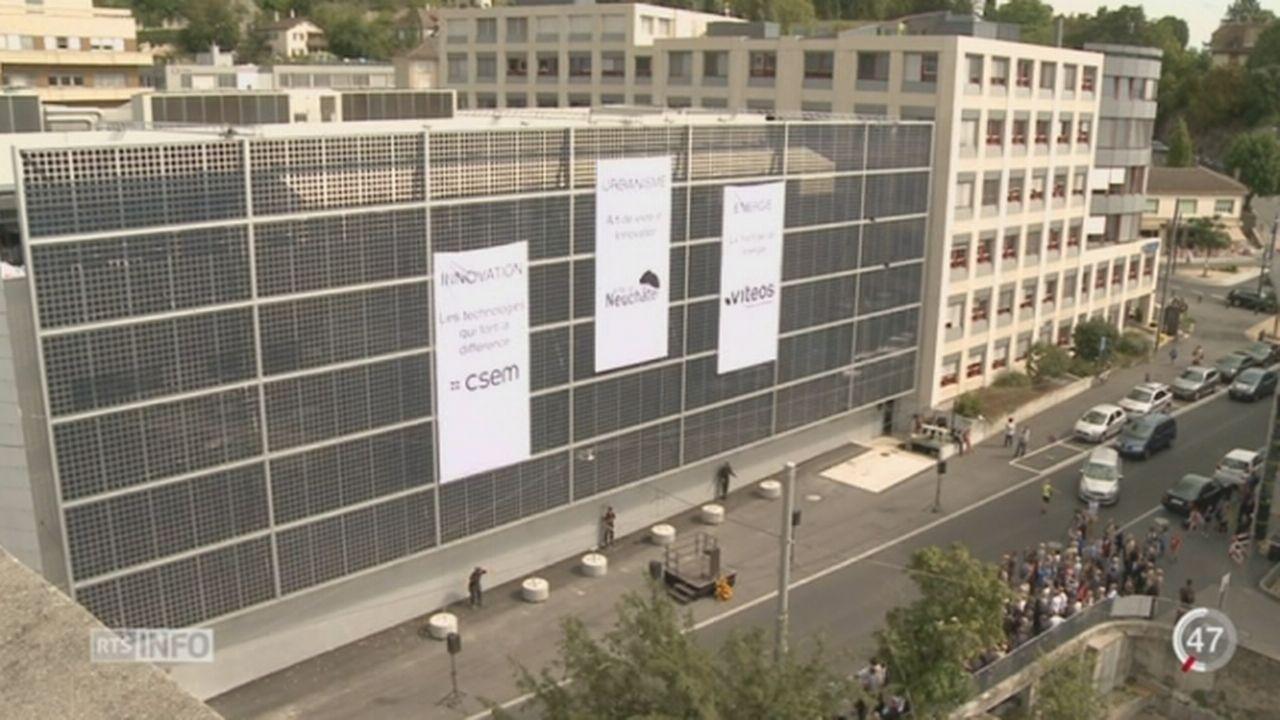 NE: une façade photovoltaïque de plus de 600m carré est inaugurée [RTS]