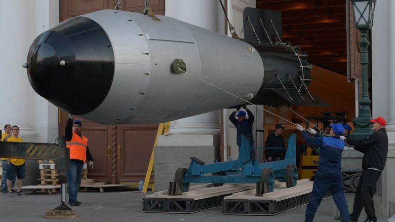 """Moscou expose la """"Tsar Bomba"""", plus puissante bombe nucléaire de l ..."""