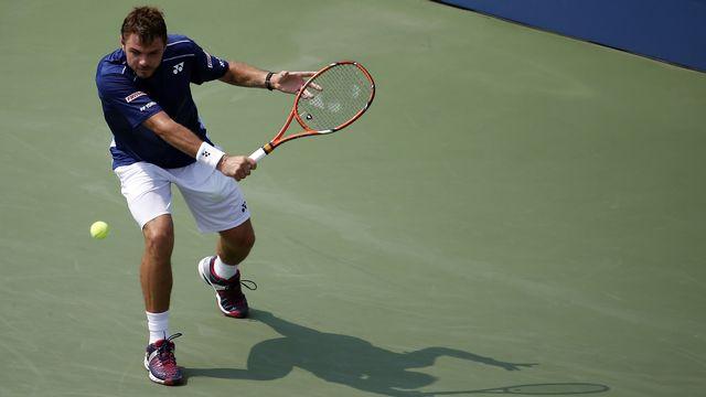 Stan Wawrinka a fêté la 100e victoire de sa carrière en Grand Chelem jeudi à l'US Open. [Geoff Burke - Reuters]