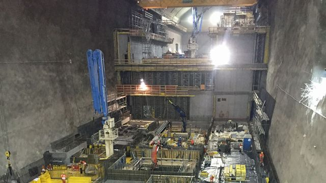 Vue du chantier souterrain de Nant de Drance. [NdD]