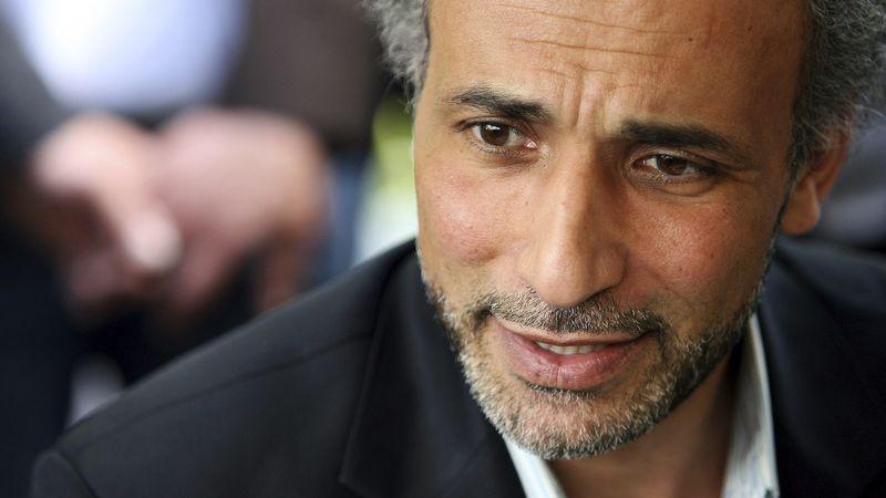 Le professeur Tariq Ramadan lors d'une conférence en 2010.