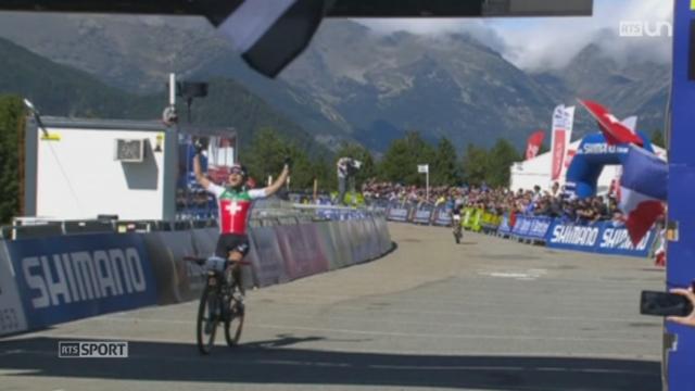 VTT - Mondiaux en Andorre: Nino Schurter remporte son quatrième titre mondial [RTS]