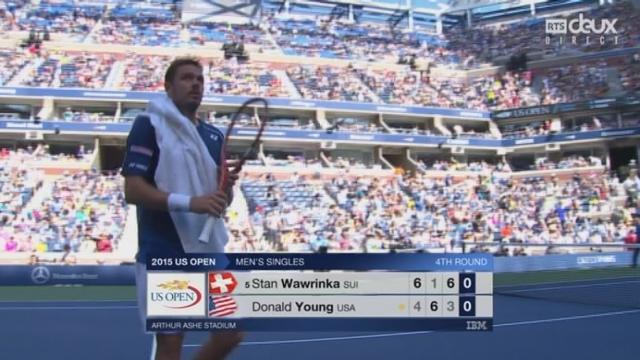 Wawrinka-Young (6-4, 1-6, 6-3): Stan remporte enfin le 3e set [RTS]