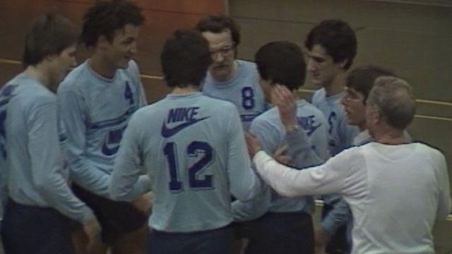 Les joueurs du LUC volleyball en 1983. [RTS]