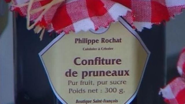 Le chef Philippe Rochat propose de l'épicerie fine, en 2004 [RTS]