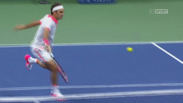 ½ Richard Gasquet (FRA-12) - Roger Federer (SUI-2) (2-4). Un break conquis de haute lutte par le Suisse [RTS]