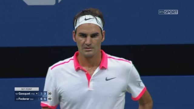 ½ Richard Gasquet (FRA-12) - Roger Federer (SUI-2) (3-6). En un peu plus d'une heure, Federer inflige deux 6-3 à son adversaire [RTS]