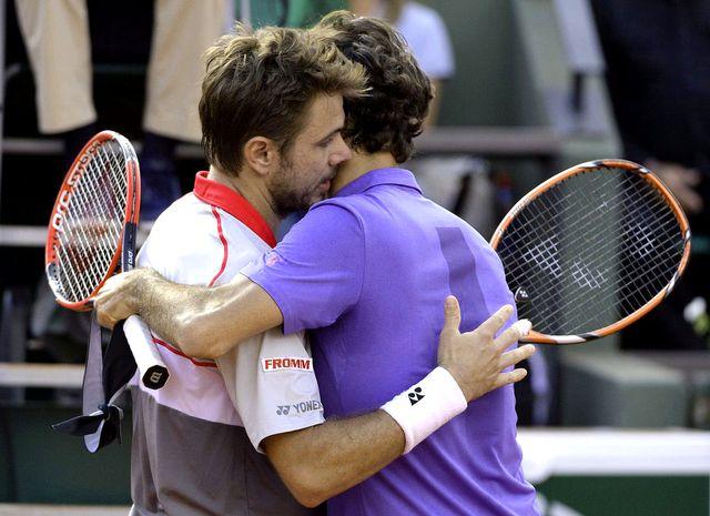 Wawrinka et Federer s'étaient affrontés ce pritnemps à Roland Garros. [Caroline Blumberg - EPA/Keystone]