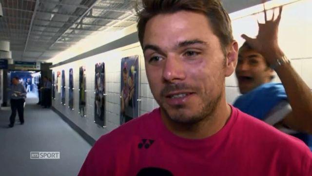 """Federer s'est """"invité"""" lors de l'interview de Wawrinka. [RTS]"""