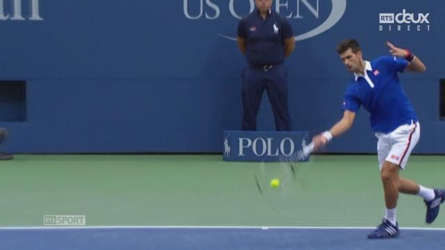 1-2, N. Djokovic - M. Cilic (6-0, 6-1): rien à faire pour Cilic dans ce 2e set [RTS]