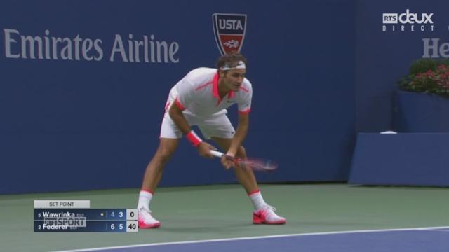 1-2, S. Wawrinka - R. Federer (4-6, 3-6): 2e set pour Federer [RTS]
