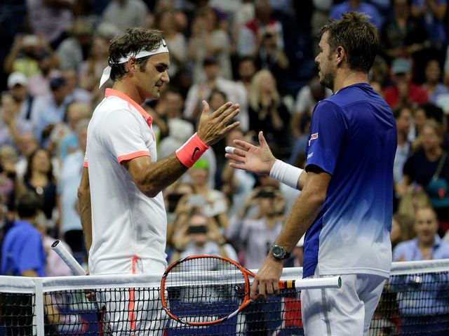 Impérial, Federer visera un sixième titre à New York dimanche. [Bill Kostroun - Keystone]