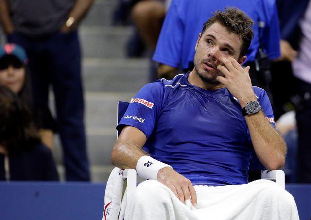 Wawrinka est tombé sur un Federer  son meilleur niveau à New York. [David Goldman - Keystone]