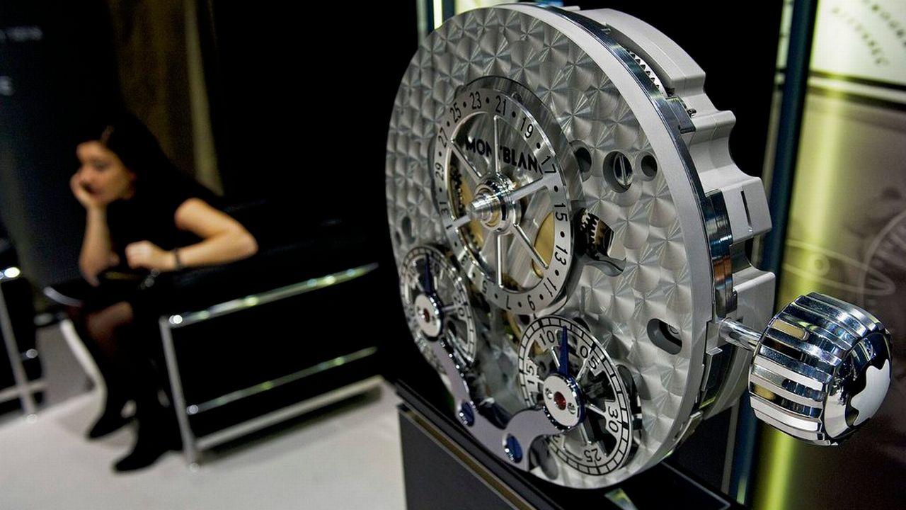Au Salon international de la Haute Horlogerie à Genève, en janvier 2010. [SANDRO CAMPARDO]