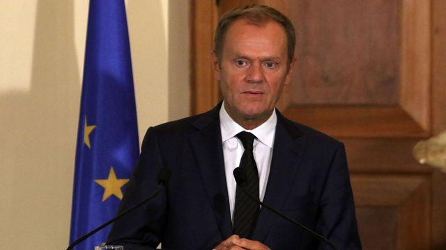 Le président du Conseil européen, Donald Tusk. [Yiannis Kourtoglou - AFP]
