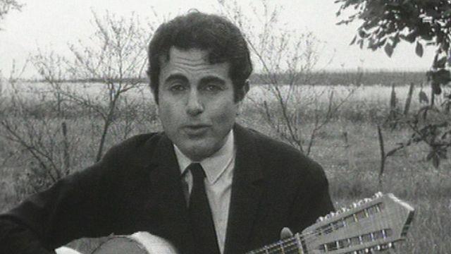 Le chanteur français Guy Béart en 1966. [RTS]