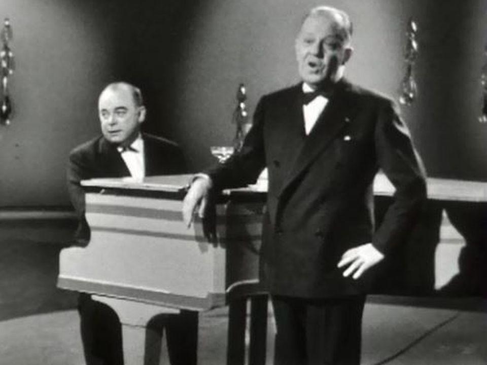 """""""Bonjour tout le monde"""", une chanson de Jean Villard-Gilles, 1962. [RTS]"""