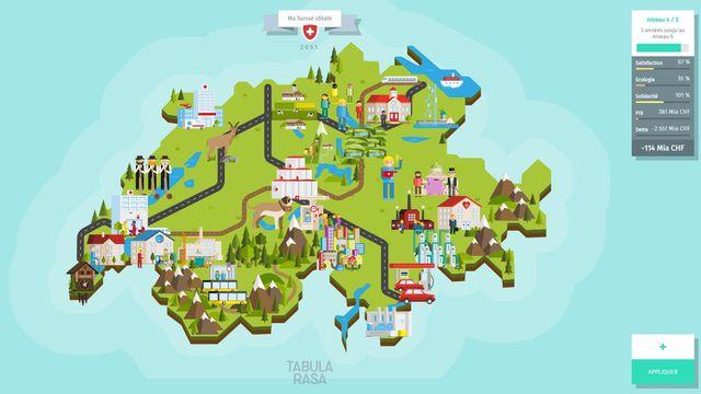 """Le jeu de stratégie politique """"Tabula Rasa"""" vous permet de façonner votre Suisse. [RTS]"""