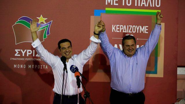 Syriza est sorti vainqueur des élections législatives. [Lefteris Pitarakis - AP Photo/Keystone]