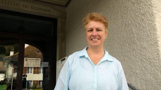 Nelly Schindelholz, mairesse de Péry - La Heutte. [Alain Arnaud - RTS]
