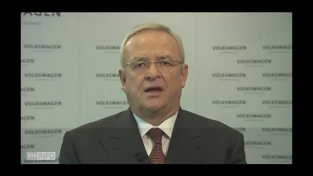Le PDG de Volkswagen se dit infiniment desole [RTS]