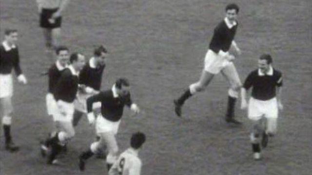 Footballeurs du FC Servette en 1963. [RTS]