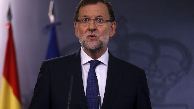 """""""Il y a beaucoup de choses dont on peut discuter. Mais pas de l'unité de l'Espagne, de la souveraineté nationale ou de la liberté des Espagnols"""", a déclaré Mariano Rajoy. [Juan Medina - Reuters]"""