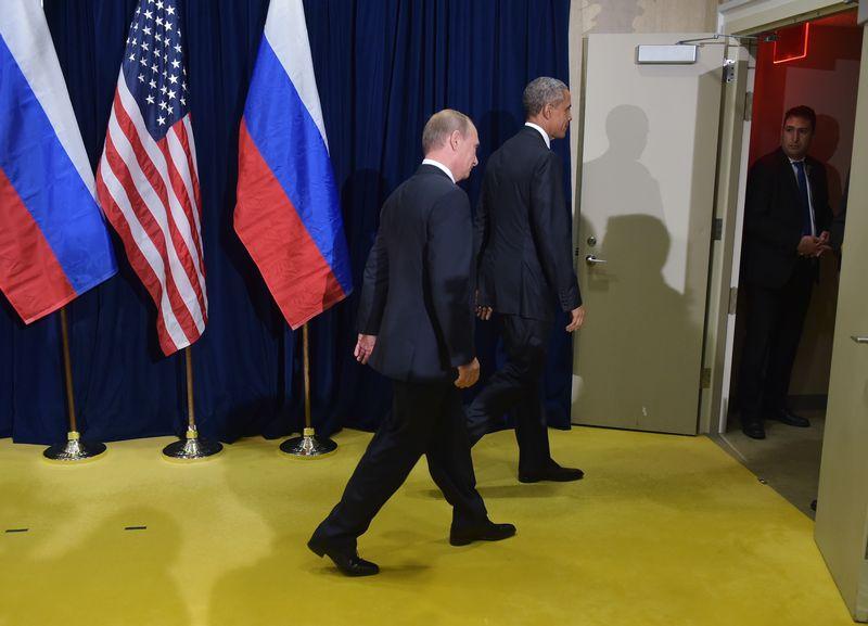 Barack Obama et Vladimir Poutine tiennent une rencontre à huis-clos.