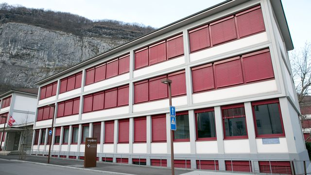 Le lycée-collège de l'Abbaye de Saint-Maurice. [Jérôme Genet - RTS]