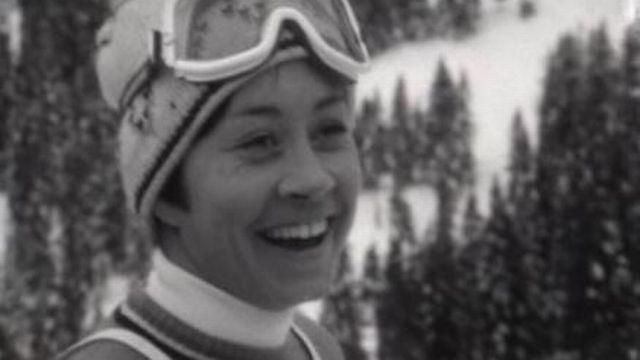 La skieuse valaisanne Fernande Bochatay en 1969. [RTS]