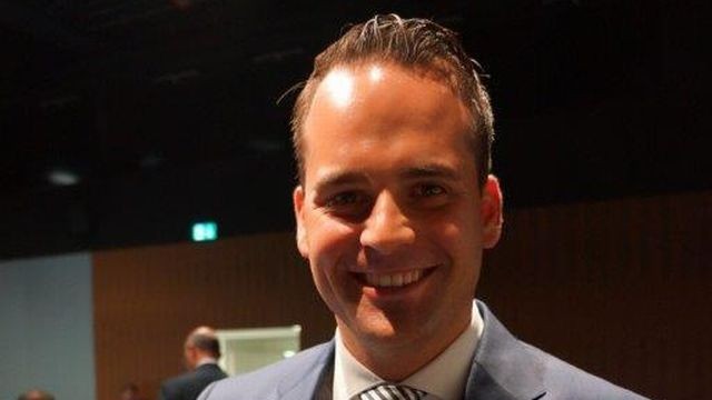 Le candidat PLR lucernois Damian Müller. [RTS]