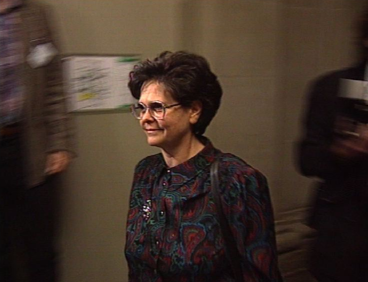 Ruth Dreifuss au moment de son élection en 1993.