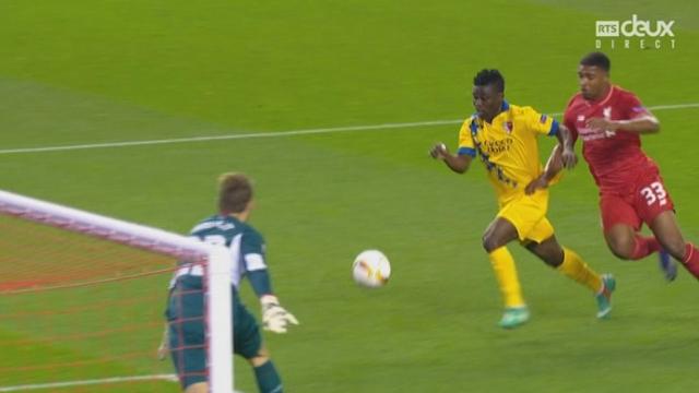 Liverpool - Sion (1-1). 17e minute: Assifuah égalise pour les Sédunois [RTS]