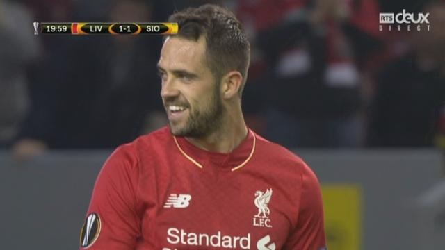 Liverpool - Sion (1-1). 20e minute: but de Liverpool annulé pour hors jeu [RTS]