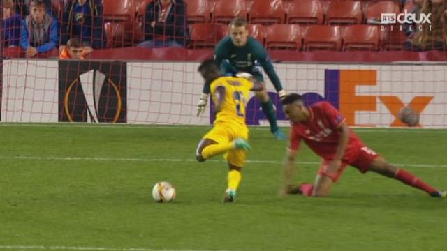 Liverpool - Sion (1-1). 68e minute: cette fois, c'est le portier de Liverpool, Mignolet, qui sauve les siens [RTS]