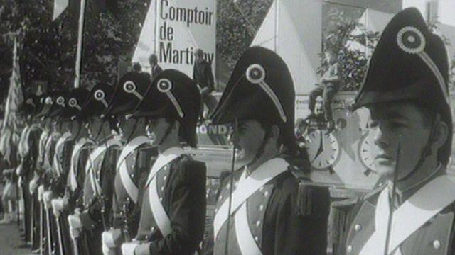 Martigny en fête lors du Comptoir en 1964. [RTS]