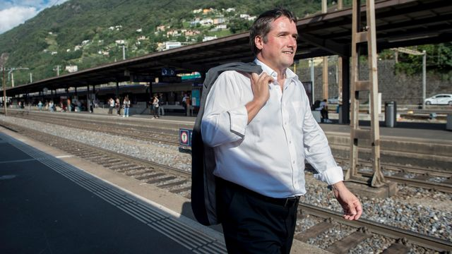 Le président du Parti socialiste suisse Christian Levrat se présente dans le canton de Fribourg. [Ti-Press/Pablo Gianinazzi - Keystone]