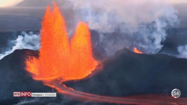 Islande: reportage sur l'une des plus grandes éruptions volcaniques de l'île [RTS]