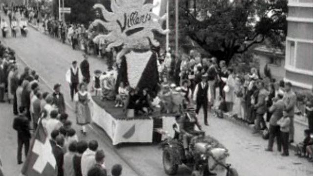 Manifestation pour le centenaire de la station de Villars