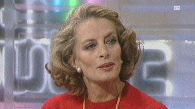 Capucine, la comédienne sur le plateau de Midi Public en 1984 [RTS]