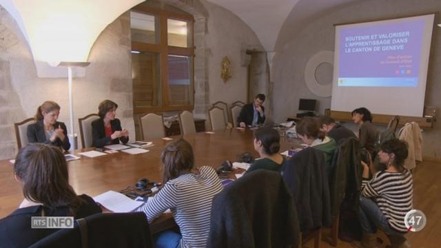 GE: le Conseil d'État veut orienter les jeunes vers l'apprentissage [RTS]