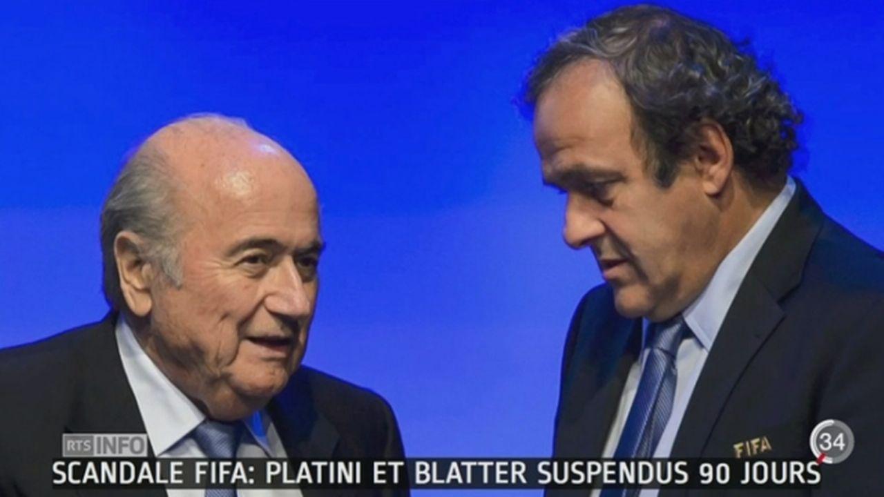 Soupçons de corruption à la FIFA: les chances de Michel Platini de diriger l'institution s'amenuisent [RTS]