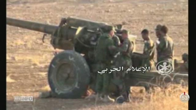 Syrie: les forces gouvernementales reprennent l'offensive, aidés par la Russie et du Hezbollah [RTS]