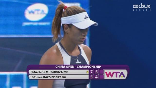 Finale: Garbiñe Muguruza (ESP-5) - Timea Bacsinszky (SUI-12) (7-5 5-4). Un break décisif pour l'Espagnole ? [RTS]