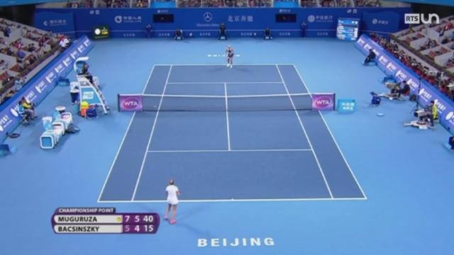 Tennis - WTA Pékin: Timea Bacsinszky s'incline face à Garbine Muguruza [RTS]