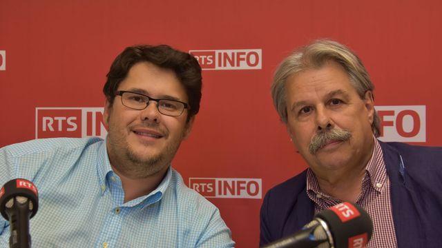 Jose Demétrio à gauche et Jean-Marie Chèvre (à dr.) [Gaël Klein - RTS]
