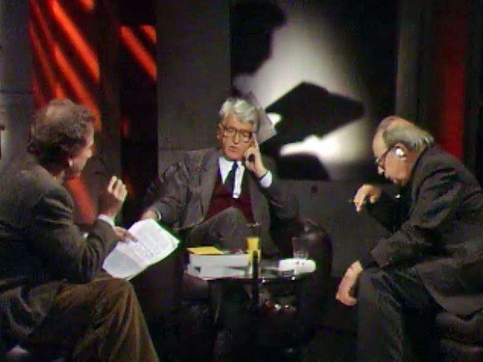 Tchossitch parle de son chef d'oeuvre avec Rossi et Georges Haldas.