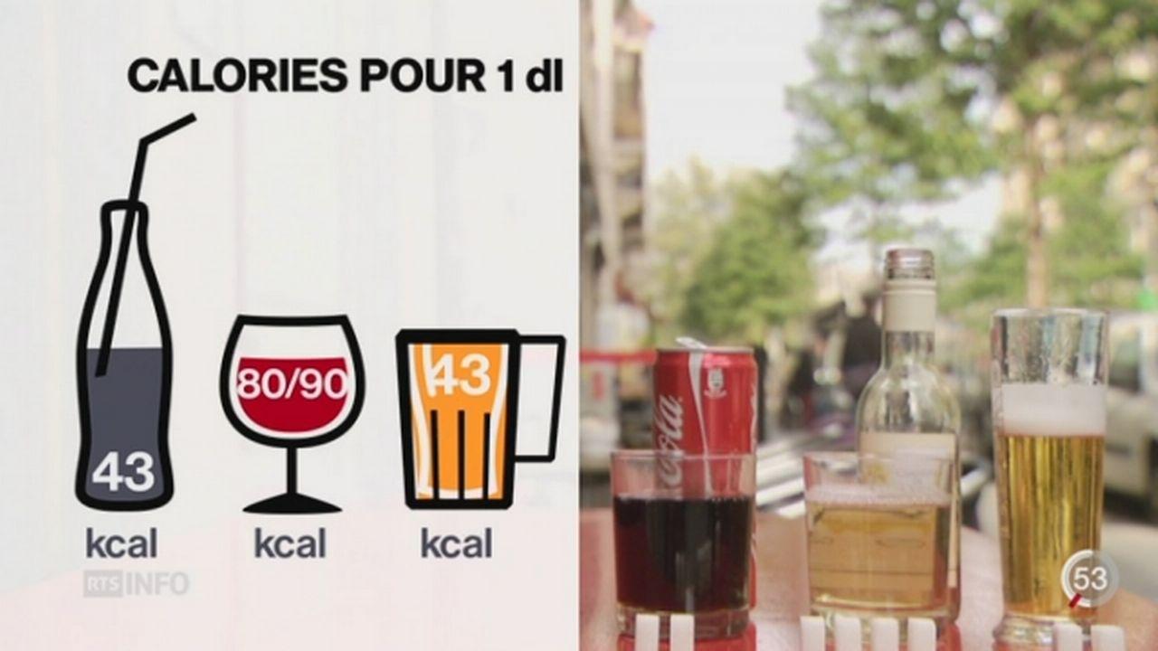 Une interpellation parlementaire a été déposée sur les calories présentes dans les boissons alcoolisées [RTS]