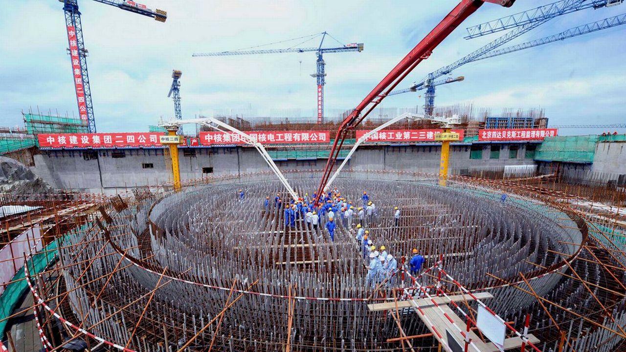Centrale nucléaire en construction à Fuqing dans la province chinoise de Fujian. [Xinhua, Zhang Guojun - AP/Keystone]