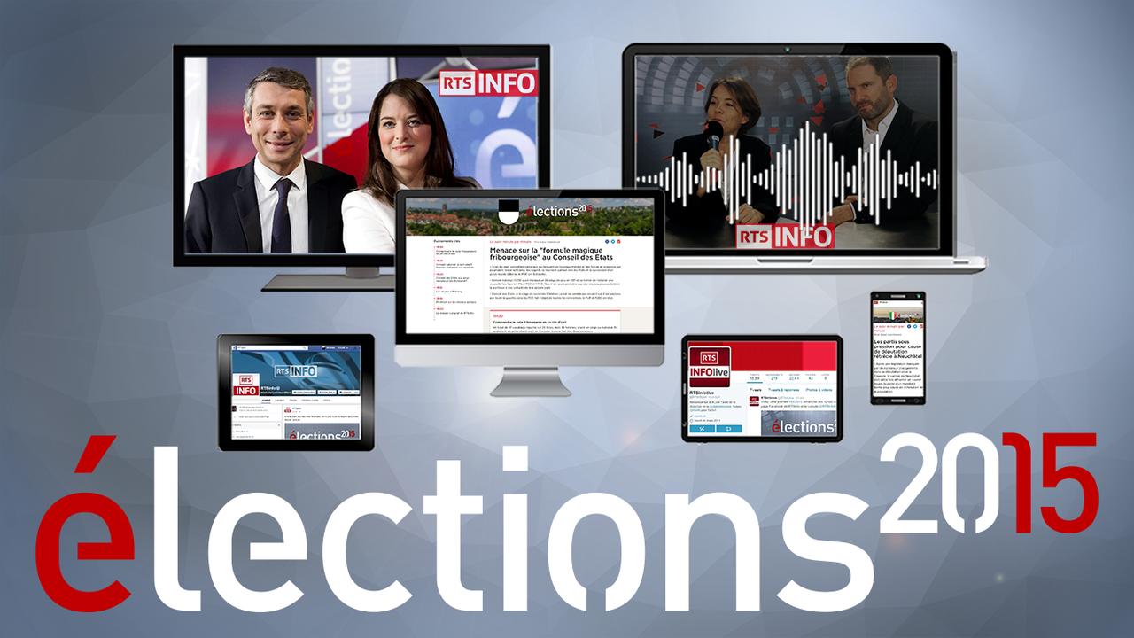 Résultats en temps réel, analyses, débats et réactions se succéderont sur les antennes TV et radio, sur internet, en mobilité et sur les réseaux sociaux. [Cloé Rouge - RTS]